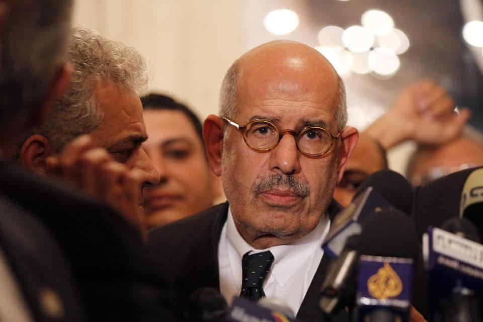 Mohamed ElBaradei's role in the transition was unclear.