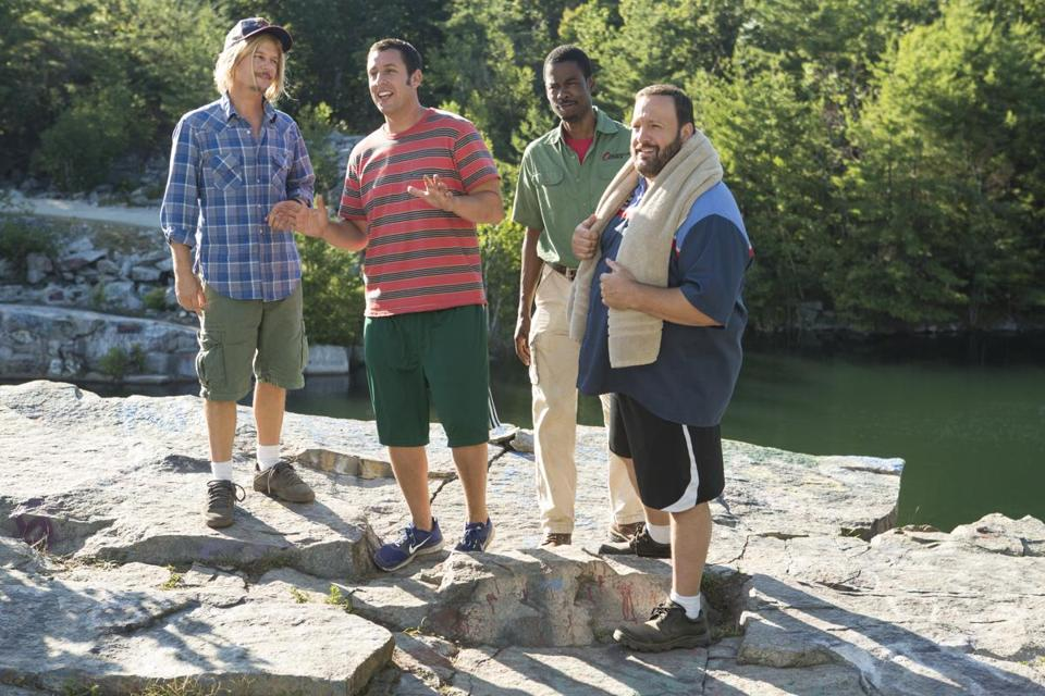 "From left: David Spade, Adam Sandler, Chris Rock, and Kevin James in ""Grown Ups 2.''"