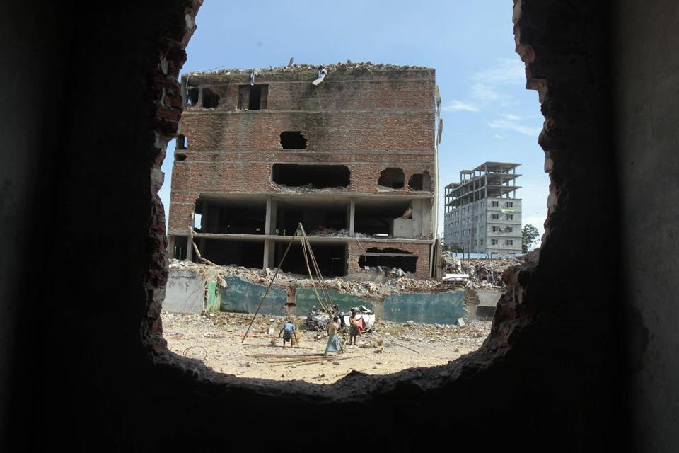 A garment factory collapsed at this site in Savar, near Dhaka, Bangladesh, on April 24, killing 1,129 people.