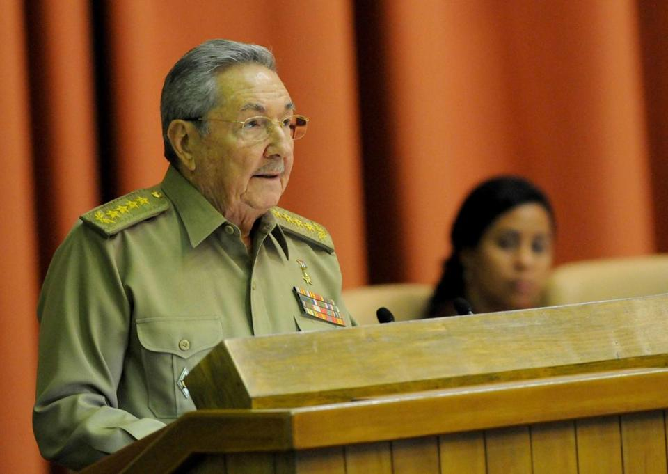 Cuban President Raul Castro addressed the national assembly in Havana.