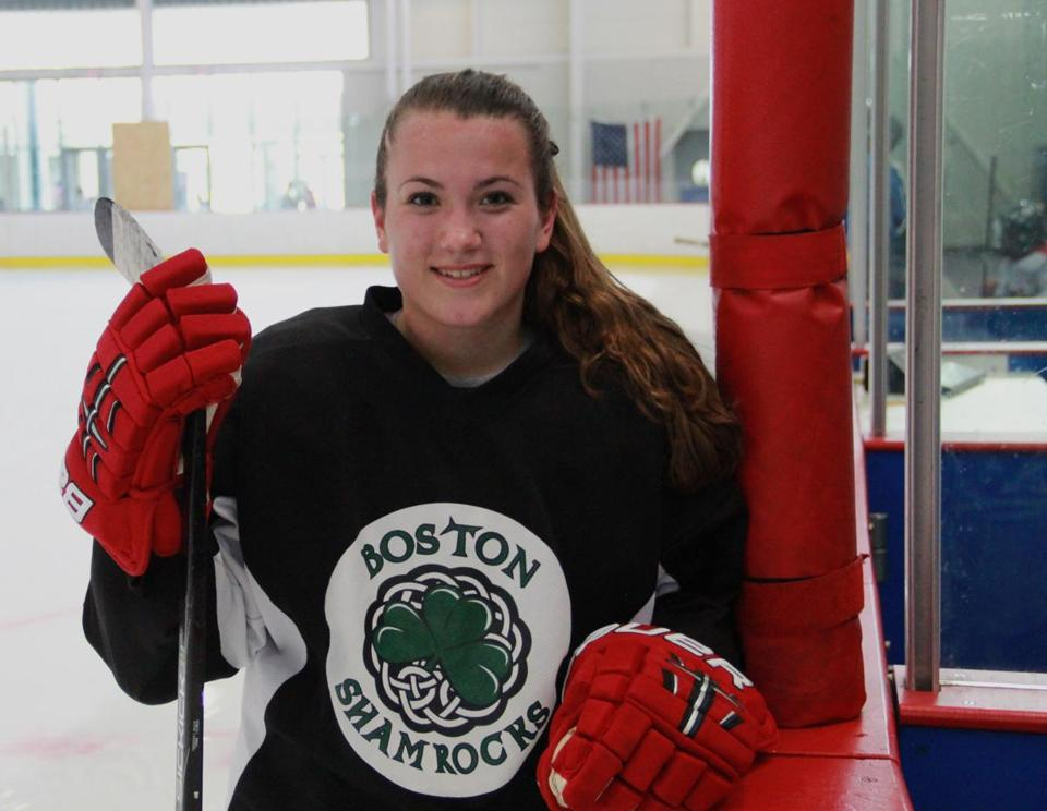 Katie Jeter, a rising senior  at Winthrop High School, will play for the Northeast girls' hockey team at the annual Bay State Summer Games