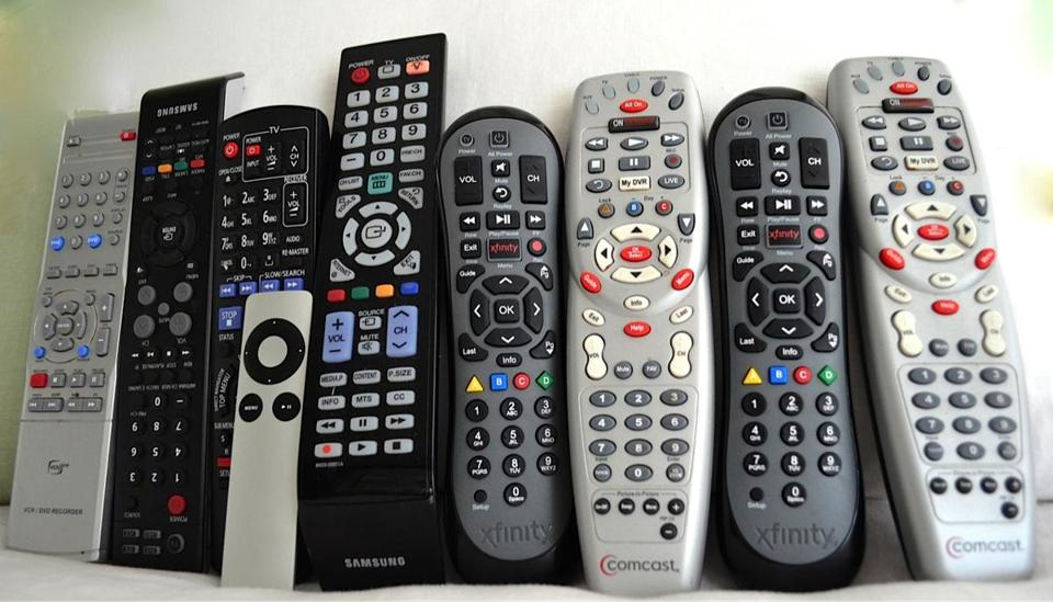 The remote controls in Beverly Beckham's house.