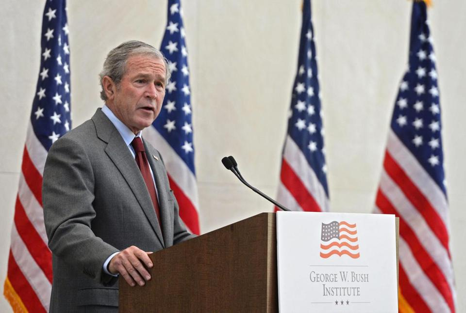 ''America can be a lawful society and a welcoming society at the same time,'' George W. Bush said in Dallas Wednesday.