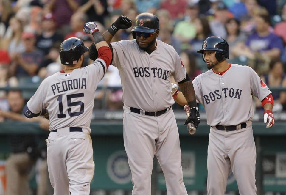 Dustin Pedroia, David Ortiz, and Shane Victorino each had home runs in Seattle.
