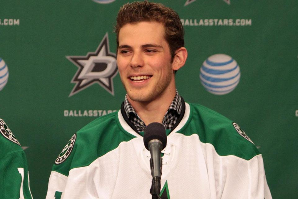 Tyler Seguin was introduced in Dallas Tuesday.