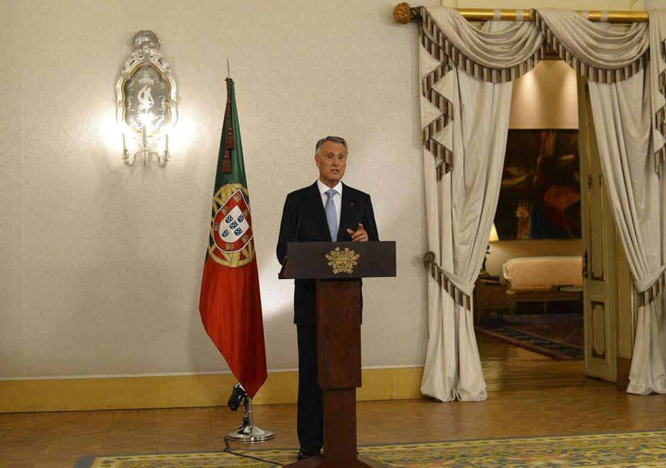 President Anibal Cavaco Silva spoke to Portugal from the presidential palace in Lisbon on Thursday.