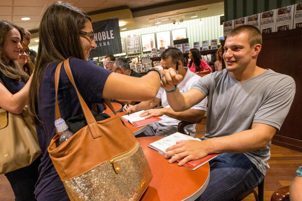 Rob Gronkowski met with fans at a book signing on Thursday.