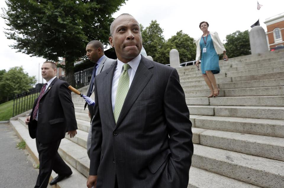 Governor Deval Patrick said he will not block the repeal of a state mandate for employers to provide health insurance to their workers or pay a penalty.