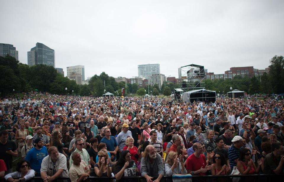 The first Outside the Box festival drew large crowds to Boston Common.