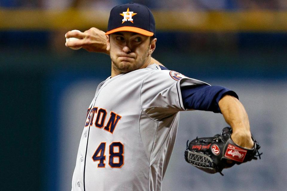 Houston's Jarred Cosart took a no-hitter into the seventh inning in his first major league start. He allowed two hits in eight innings.