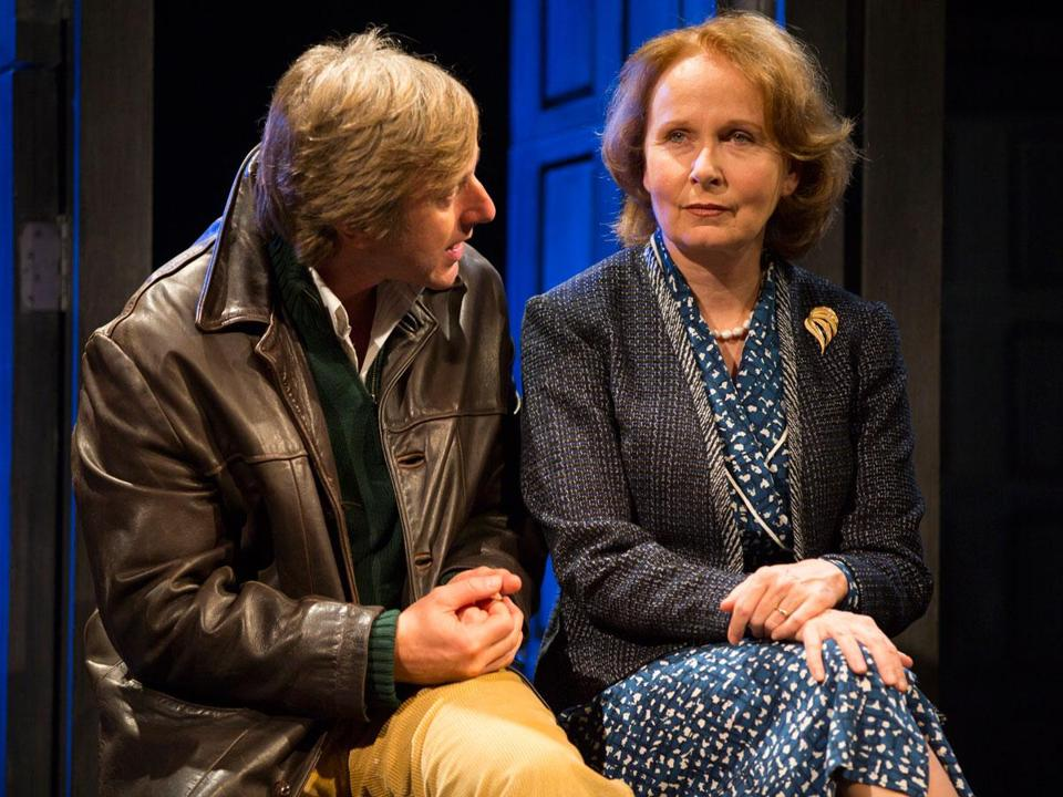 "Jake Weber plays a  double agent and Kate Burton a spymaster in the late 1980s in ""Hapgood,"" the Tom Stoppard espionage thriller at the Williamstown Theatre Festival."