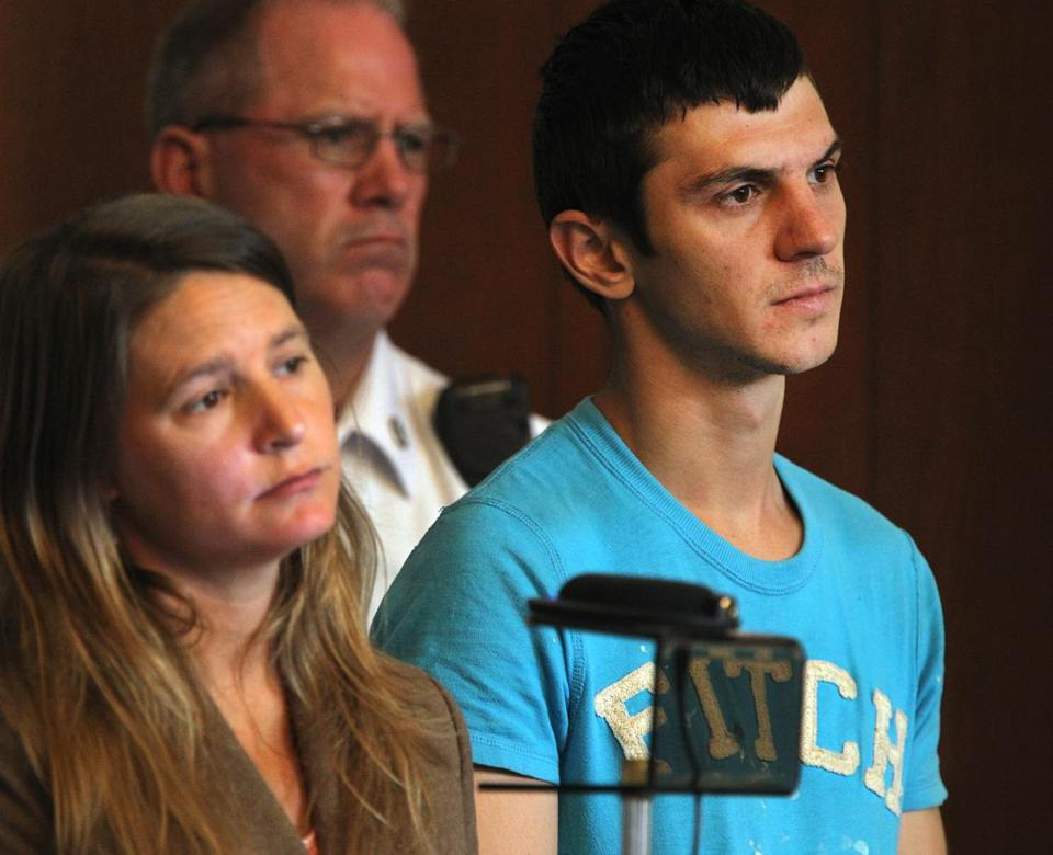 Vladimir Romanov (right) at a Boston court last year.