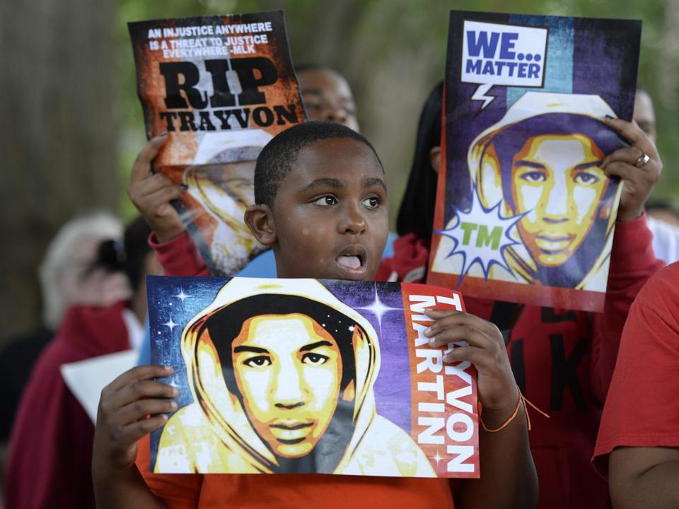 Tyson Cooper, 10, was among the demonstrators at a rally in Atlanta to protest the acquittal of George Zimmerman.