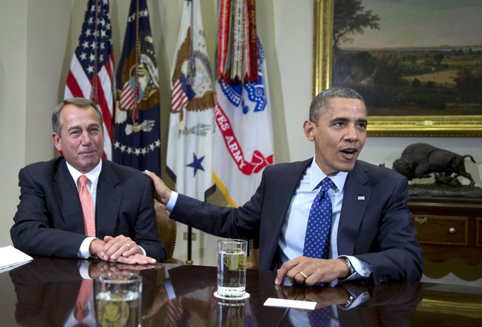 House Speaker John Boehner and President Obama at a meeting in 2012.