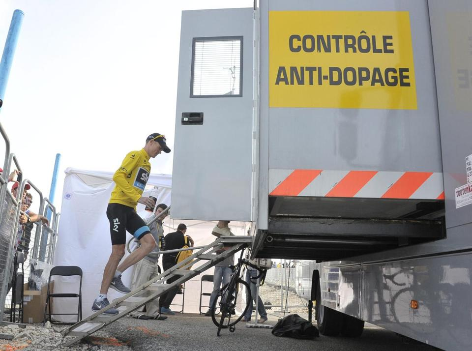Christopher Froome is miffed that the sport's doping cloud is following him.