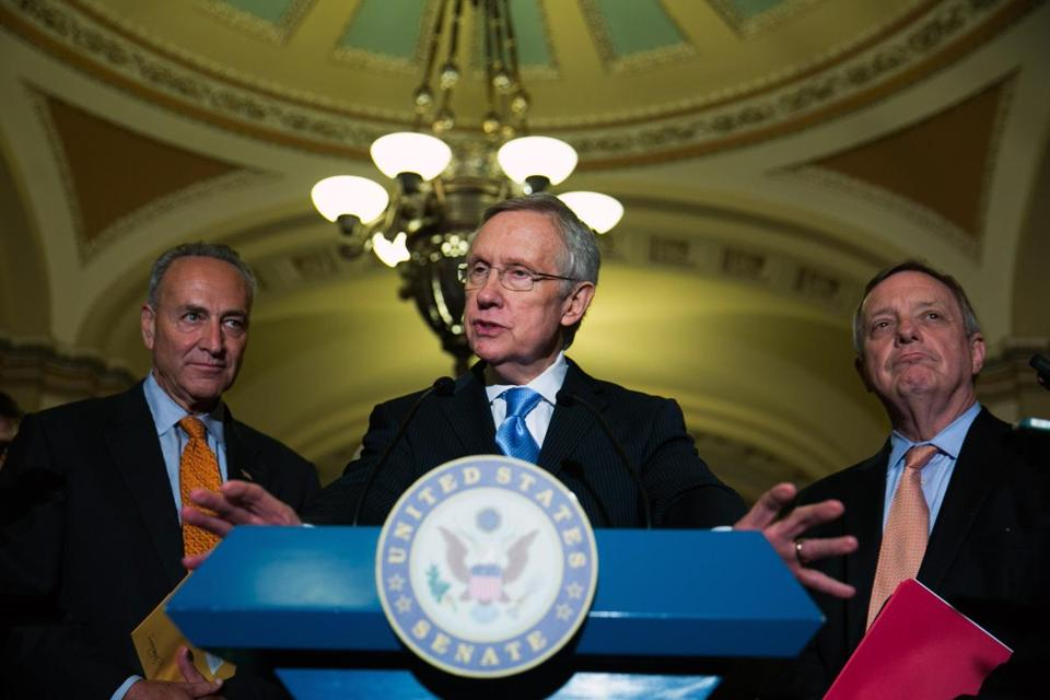 Majority Leader Harry Reid says the agreement would resolve the chamber's bitter impasse over stalled Obama administration nominations.