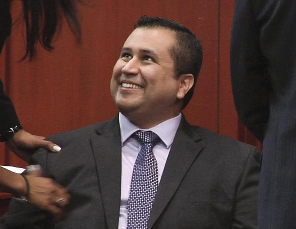 George Zimmerman smiled after a not guilty verdict was handed down in his trial.