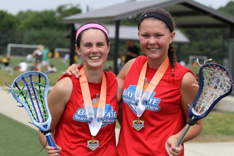 Blayne and Hayley Baker showed off their gold medals in Waltham.