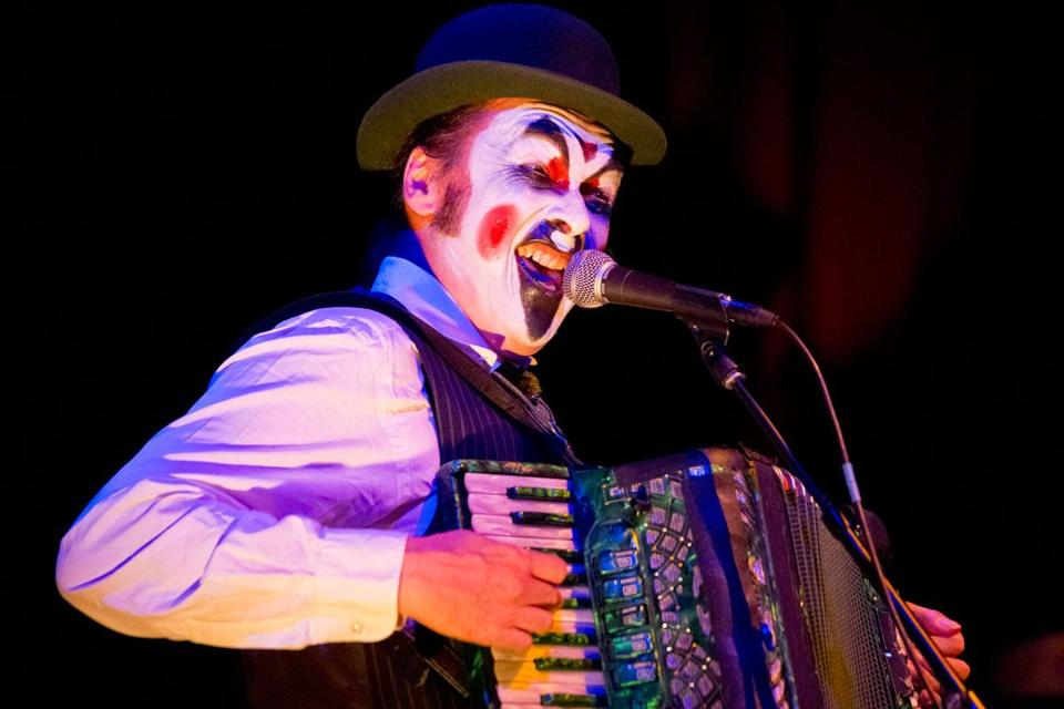Tiger Lillies singer-songwriter Martyn Jacques at Oberon on Monday.