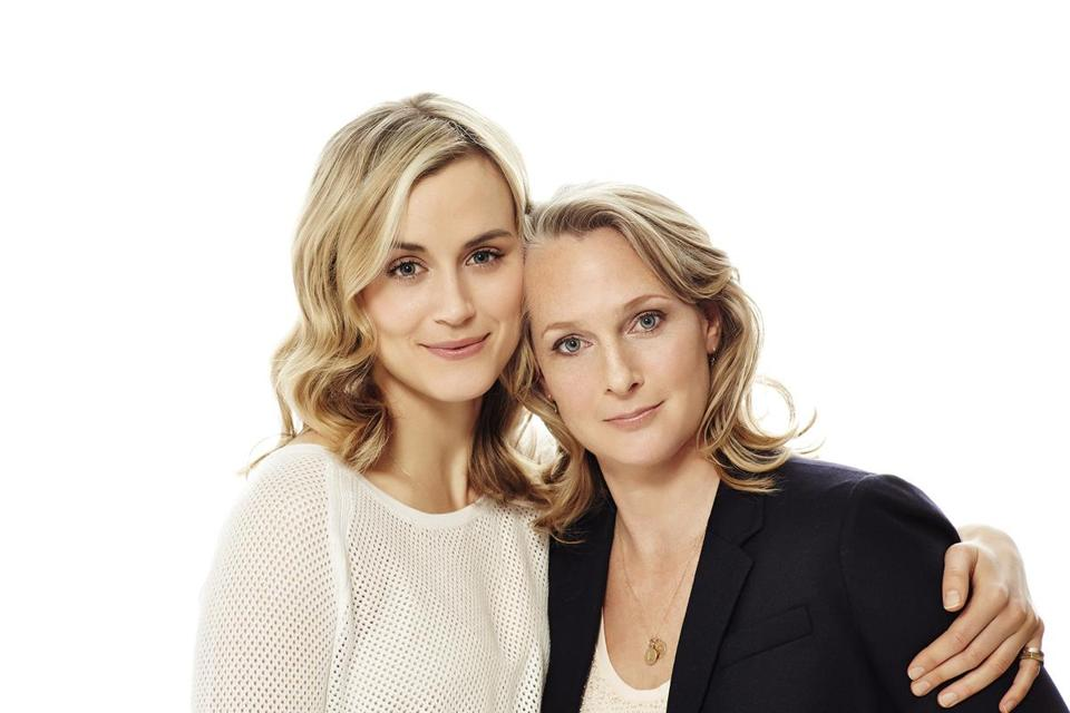 Taylor Schilling (left) plays a younger Piper Kerman, imprisoned for a drug offense.