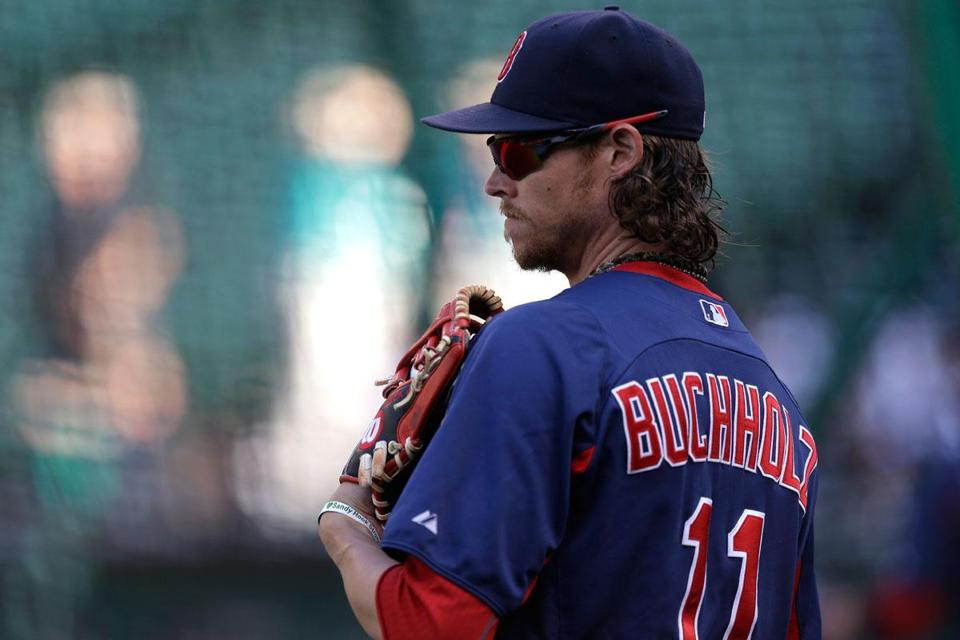 Clay Buchholz was unable to pitch in 2010 because of a hamstring injury and is out this season because of a sore shoulder.