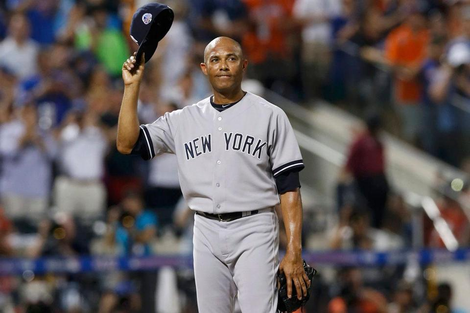 Called in during the eighth to make sure he would pitch in his final All-Star Game, Mariano Rivera soaks up an ovation. He tossed a perfect inning and was named MVP in the AL's win.