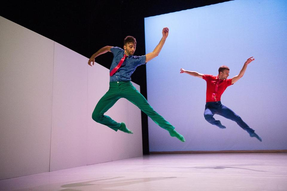 Dario Dinuzzi and Peter Smida of Ballet BC perform at Jacob's Pillow.