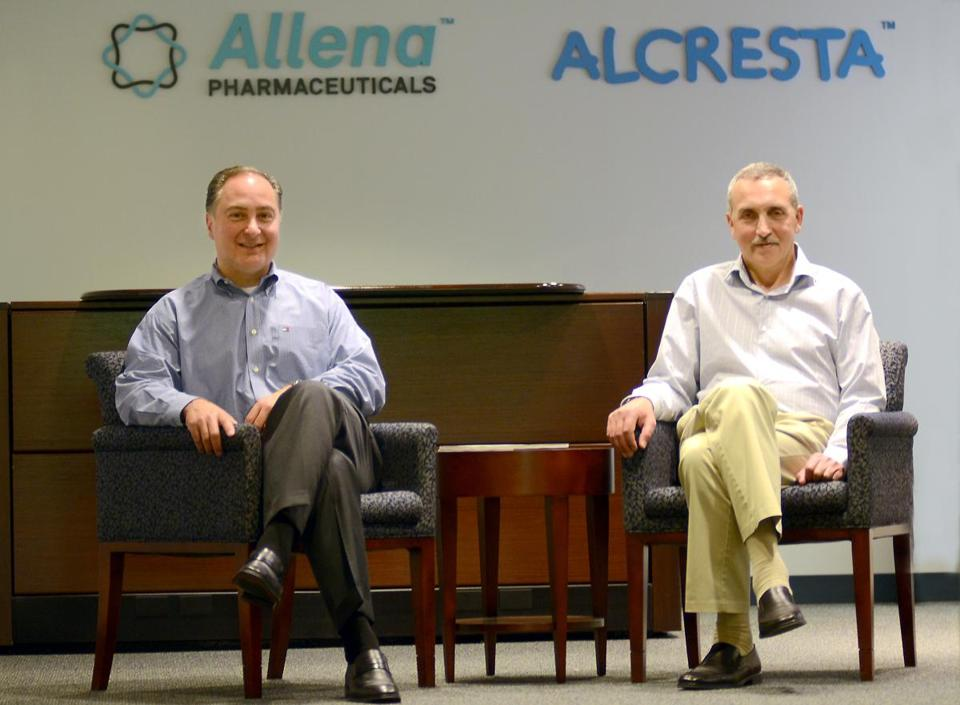 Alcresta cofounders Robert Gallotto (left), who is being named company president on Monday, and Alexey Margolin, the chief executive.