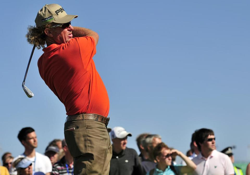 Miguel Angel Jimenez shot an even-par 71, catapulting ahead of the field by one shot.