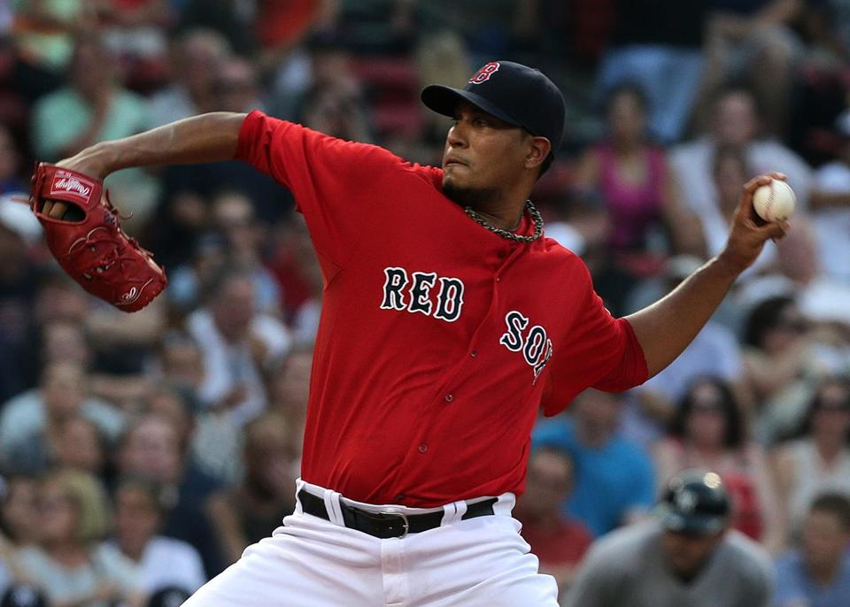 Felix Doubront pitched into the seventh inning, improving to 3-1 with a 2.17 ERA in six career starts against the Yankees.