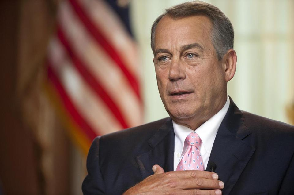 "Congress ""ought to be judged on how many laws we repeal,"" House Speaker John Boehner said."