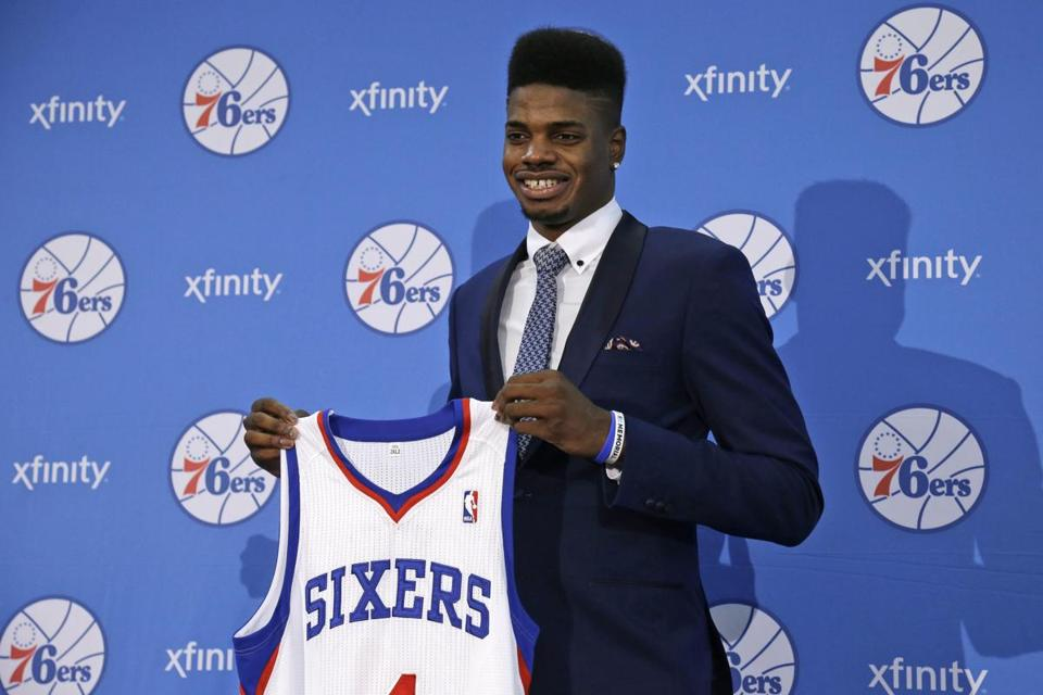 Nerlens Noel won't be wearing his uniform for real until he recovers from knee surgery.