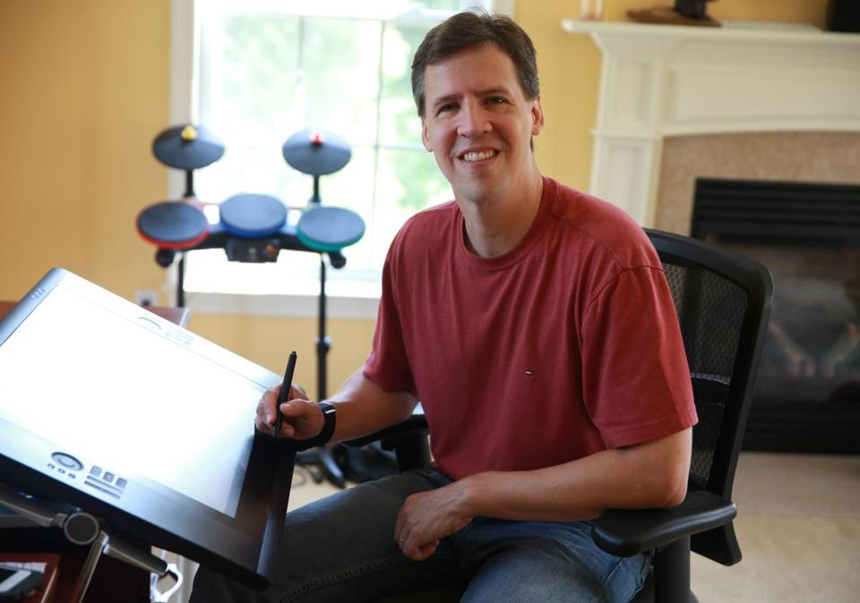 "Jeff Kinney, author of ""Diary of a Wimpy Kid,"" has a small house next to his family's home where he writes and also does karaoke with his neighbors."