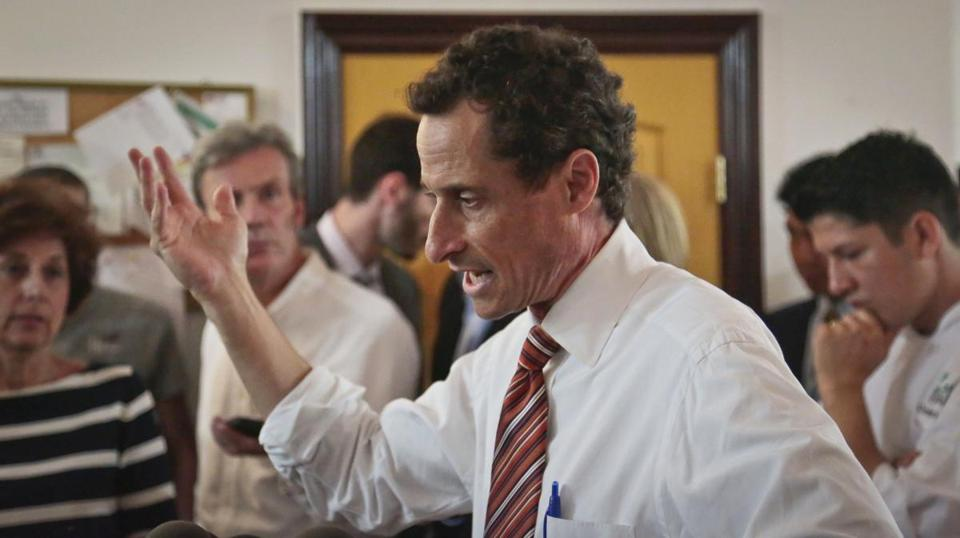 Weiner's once-resurgent political standing in New York City seemed to erode by the moment, as more graphic pictures of his penis appeared online and his conduct and lack of candor were denounced from the campaign trail to the halls of Congress.