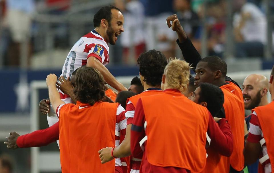 Landon Donovan collected two goals and some kudos in the US's 10th straight win.