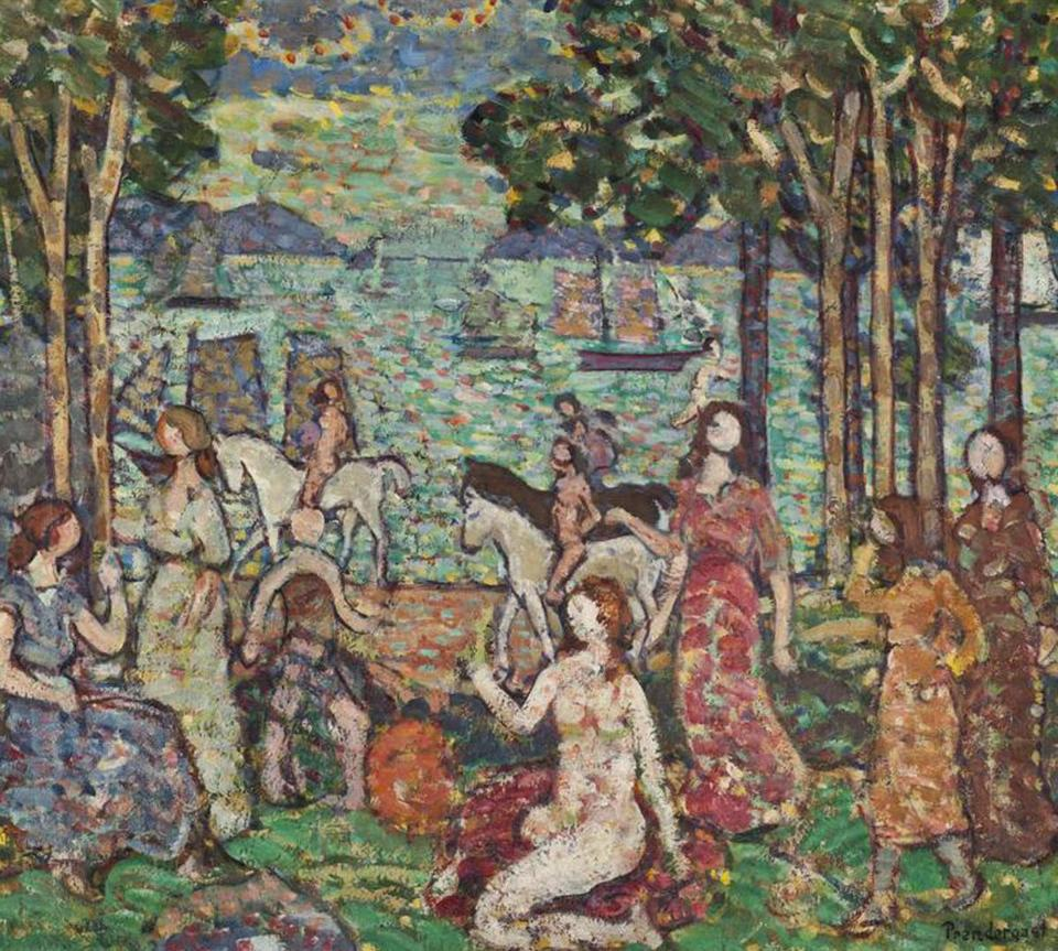 """The Promenade"" shows artist Maurice Prendergast's Armory Show-era style."