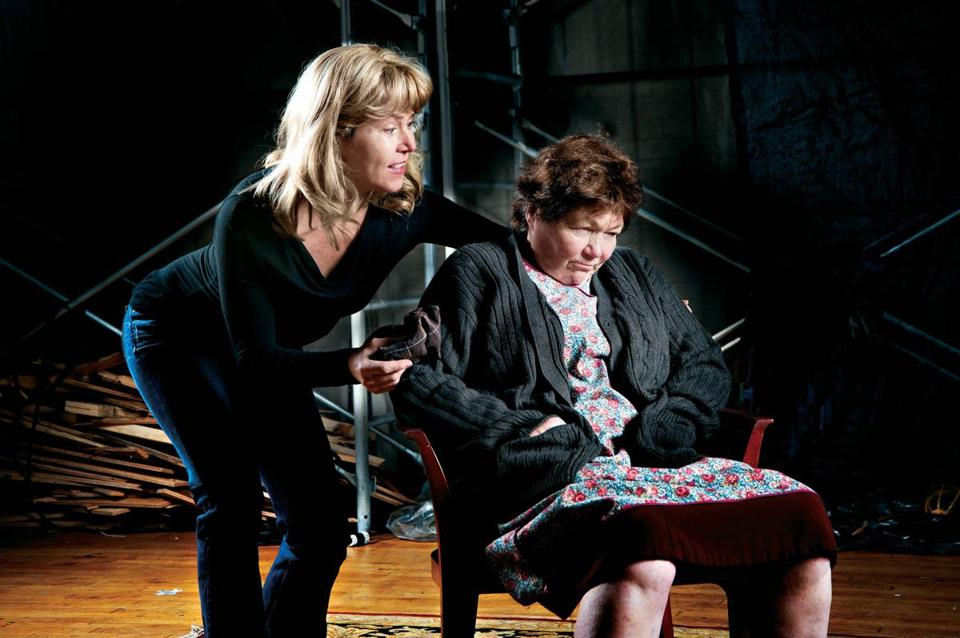 "Elizabeth Aspenlieder (left) and Tina Packer in Shakespeare & Company's ""The Beauty Queen of Leenane."""