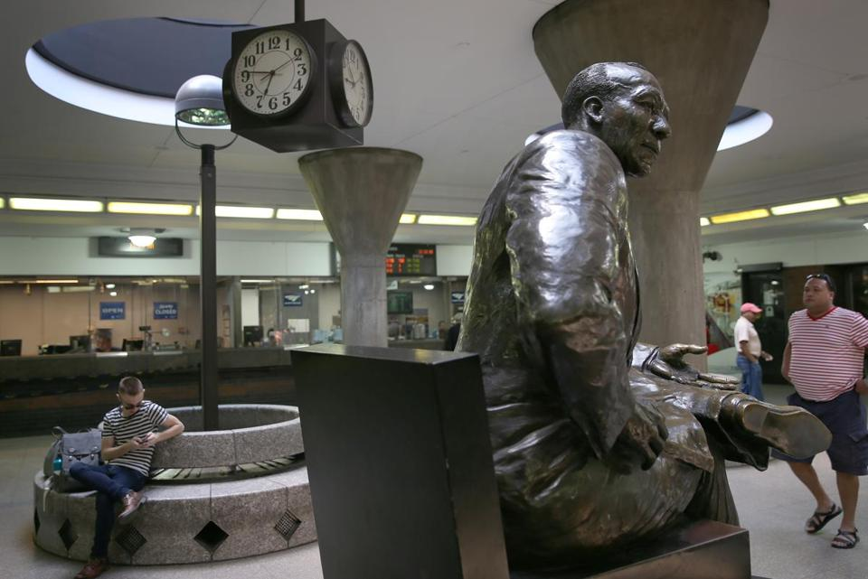 An MBTA rider asked about the clock at Back Bay station in May. The clock still read the wrong times last week.