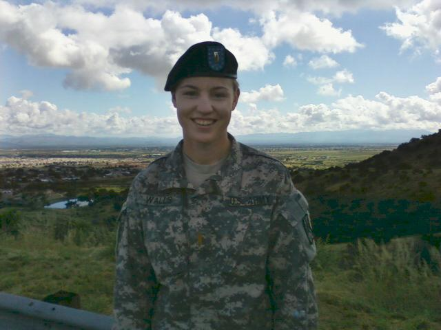 Army captain Kristen E. Walls has returned from deployment to Kosovo