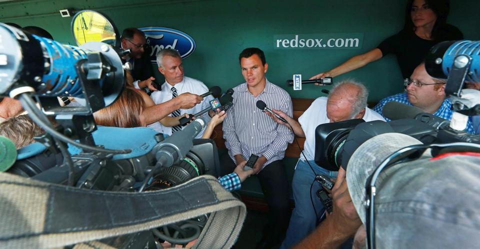 Ben Cherington talked Wednesday about the Red Sox' movement at the trade deadline.