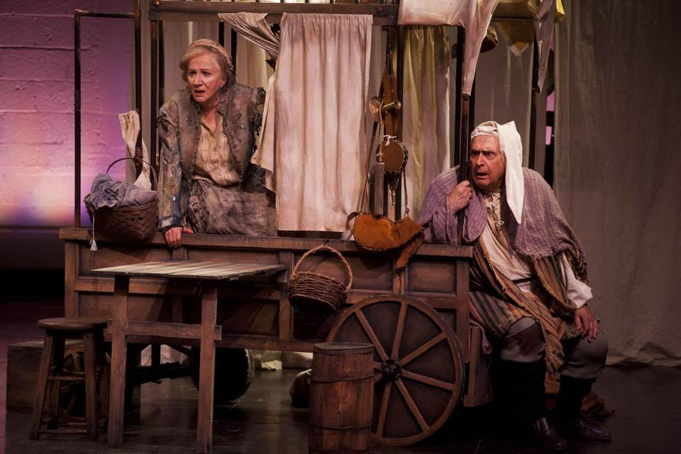 "Olympia and Apollo Dukakis in the Shakespeare & Company production of ""Mother Courage and Her Children.''"