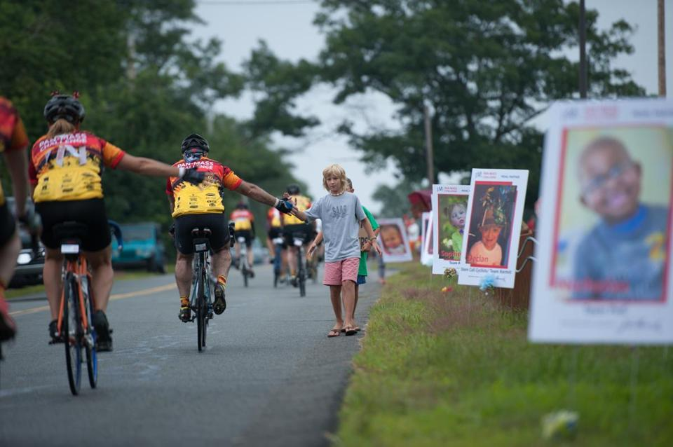 The 190-mile Pan-Mass Challenge in August drew 5,500 cyclists who raised $39 million for cancer care and research.