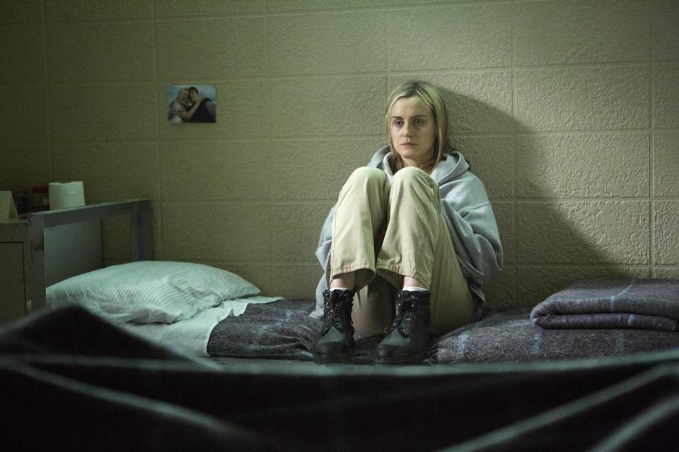 "Taylor Schilling stars in Netflix's ""Orange Is the New Black."""