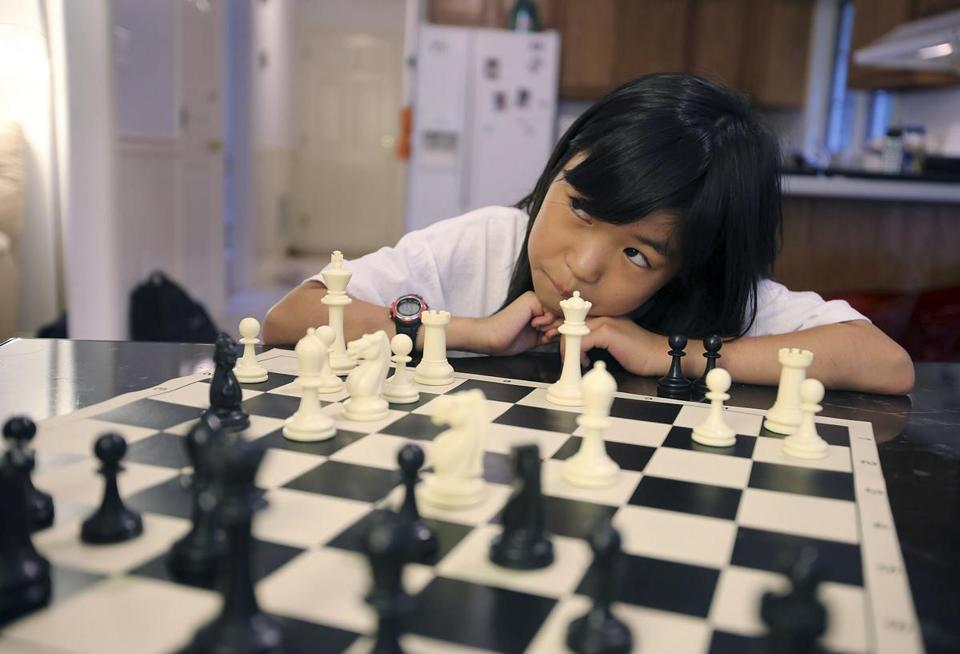 Already judged a chess expert, 9-year-old Carissa Yip of Chelmsford seeks master status.