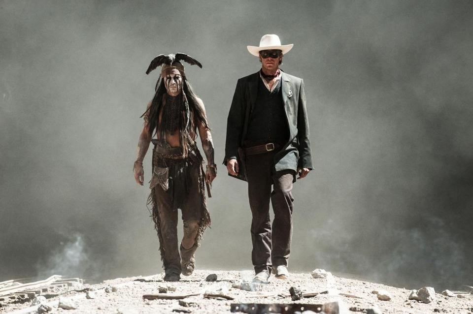 Johnny Depp was Tonto in the film; Armie Hammer played the Lone Ranger.