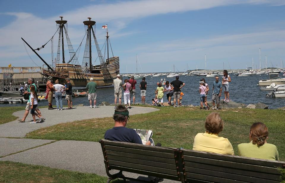 The Mayflower II, a replica of the ship that brought the Pilgrims to the New World, returned to Plymouth after getting  the first repairs in a seven-year effort to get it in shipshape for the 400th anniversary of the original Mayflower's 1620 voyage.