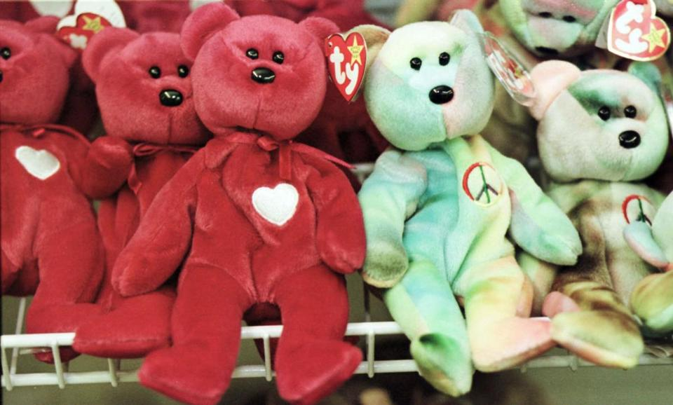 Beanie Babies were popular toys in the late 1990s.