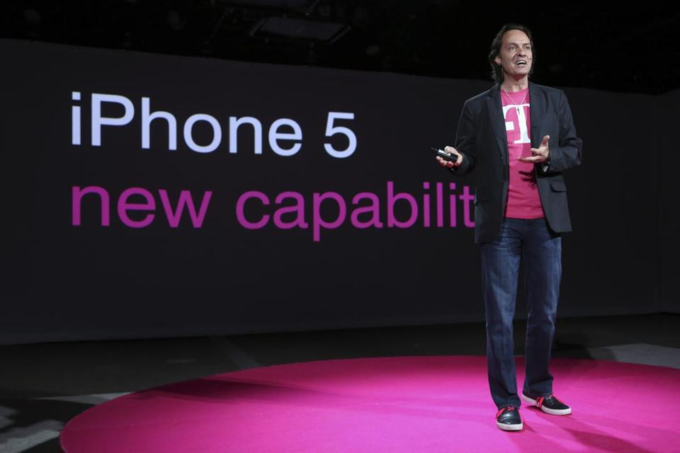 In March, T-Mobile CEO John Legere said the company would start selling the iPhone 5, filling a void in its phone lineup.