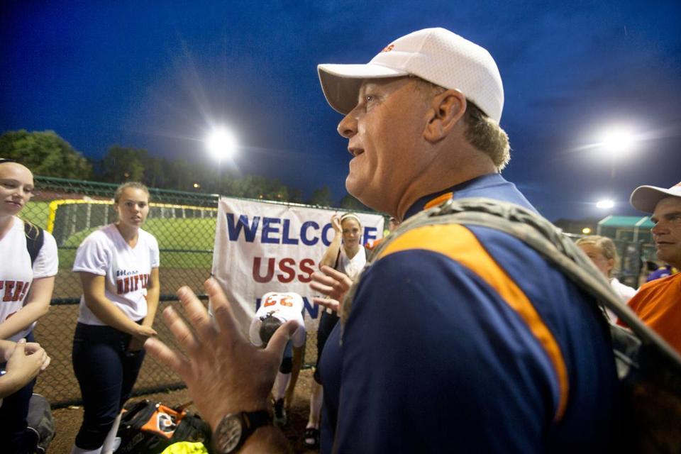 Curt Schilling, seen coaching the Mass Drifters at the USSA Girls Fastpitch World Series in August, said he has been diagnosed with cancer.