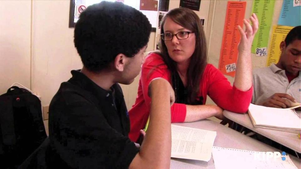 Lynn resident Shauna Mulligan teaches ninth-grade English at KIPP Academy Lynn Collegiate High School.